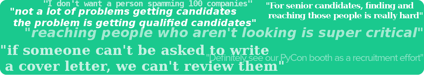 Here's some of the phrases we heard from hiring managers in interviews.